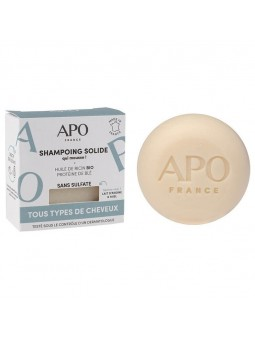 Shampoing solide tous types de cheveux naturel et bio APO France