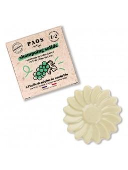 Shampoing solide à l'huile de pépins de raisin Bio Paos