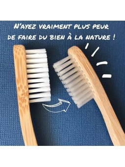 Brosse à dents en bambou adulte souple My Boo Company