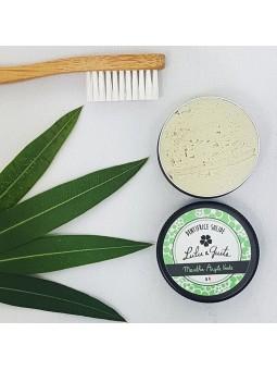 Dentifrice solide menthe verte et argile verte naturel et bio de Lulu & Guite