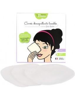Carrés démaquillants lavables en coton biface Bio